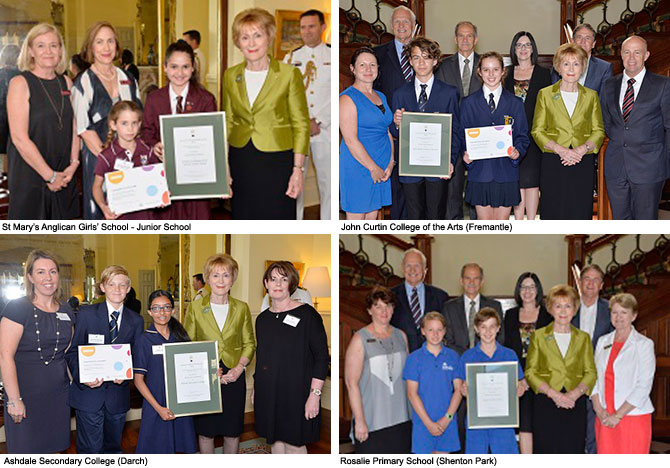Photos of STEM award winners from St Mary's AGS, John Curtin College of the Arts, Ashdale Secondary College and Rosalie Primary School.